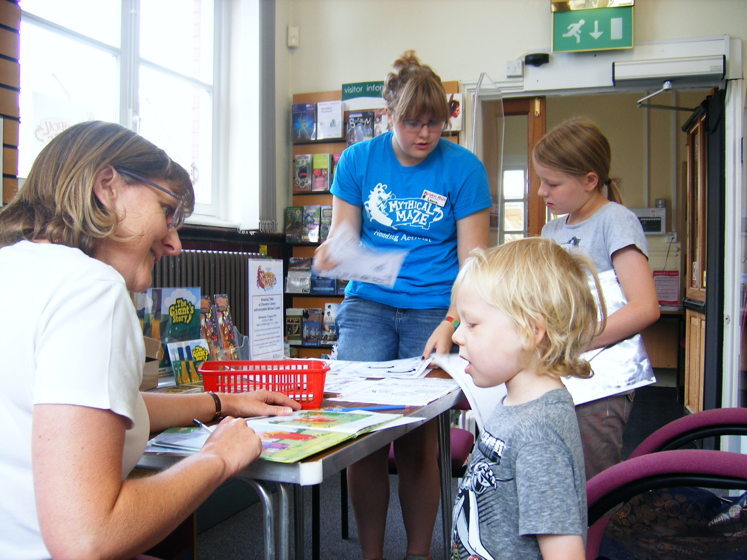 Summer Reading Challenge volunteers at Clevedon library