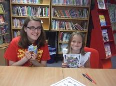 Volunteer Maisie Jepson, child Ella Thorn (permission form given). Date 30/7/15